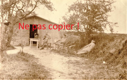 PHOTO FRANCAISE - POILUS AU REPOS A TRIGNY PRES DE MUIZON - REIMS MARNE - GUERRE 1914 1918 - 1914-18