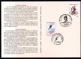 Albertville 92,parcours Flamme Olympique,obliterations Greque Et Francaise Du Passage à Rennes , Lire Description - Briefe U. Dokumente