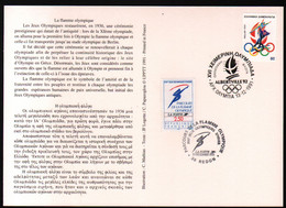 Albertville 92,parcours Flamme Olympique,obliterations Greque Et Francaise Du Passage à Redon , Lire Description - Briefe U. Dokumente