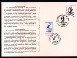 Albertville 92,parcours Flamme Olympique,obliterations Greque Et Francaise Du Passage à Nantes , Lire Description - Briefe U. Dokumente