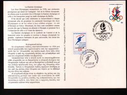Albertville 92,parcours Flamme Olympique,obliterations Greque Et Francaise  Passage  à La Rochelle , Lire Description - Briefe U. Dokumente