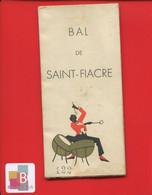 CHALONS SUR MARNE Carnet De Bal De Saint Fiacre 1937 Avec Publicité Magasins Commerces Divers - Programs