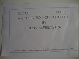 GREECE:1993.A COLLECTION OF FORGERIES BY RIENK FEENSTRA.EPIRUS,SAMOS,THRACE, LIMNOS,CRETE ETC. - Non Classés