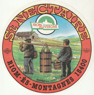 Rare  étiquette 19 Cm Fromage Saint-Nectaire From Auvergne - Cheese