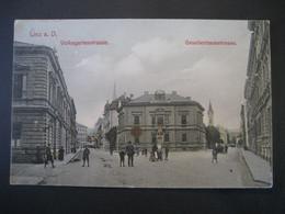Österreich- AK Linz An Der Donau Mit Volksgartenstrasse Und Gesellenhausstrasse, Verlag: Leitenmüller - Linz