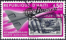 "Haiti 1972 - Mi 1198 - YT Pa 491 ( Fighter Jet - Overprinted ""Belgica 72 "" ) Airmail - Haiti"