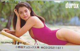 Télécarte Japon *  FEMME (7216) PHONECARD JAPAN * TELEFONKARTE *  BATHCLOTHES LINGERIE - Moda