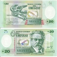 Uruguay - 20 Pesos 2020 UNC Polymer Serie A Lemberg-Zp - Uruguay