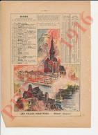 Presse 1916 Grande Guerre Bombardement Cathédrale De Dinant Belgique Albert Robida 229CH23 - Sin Clasificación