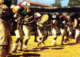 Périple En Afrique Australe Danses Zoulous Sur Carte Publicitaire Laboratoires La Biomarine Marinol à Dieppe - South Africa