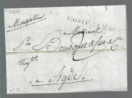 LETTRE ANCIENNE    Scan Recto Verso - 1801-1848: Précurseurs XIX