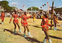 Escale à ANTIGUA Petites Antilles Scène De Carnaval Sur Carte Publicitaire Laboratoires La Biomarine Ionyl à Dieppe - Antigua & Barbuda
