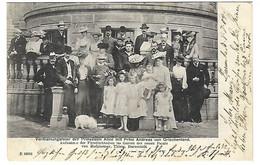 Zar Nikolaus II. V. Russland M. Familie,Großherzog Ernst Ludwig V. Hessen, Battenberg Hochzeit, Darmstadt,1903,Postkarte - Familles Royales