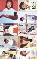 LOT 10 Telecartes Differentes Japon * FEMME Femmes (A-451) SEXY GIRL Girls Phonecards Japan * TELEFONKARTEN FRAUEN FRAU - Moda