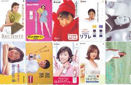 LOT 10 Telecartes Differentes Japon * FEMME Femmes (A-453) SEXY GIRL Girls Phonecards Japan * TELEFONKARTEN FRAUEN FRAU - Moda