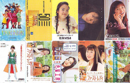 LOT 10 Telecartes Differentes Japon * FEMME Femmes (A-454) SEXY GIRL Girls Phonecards Japan * TELEFONKARTEN FRAUEN FRAU - Moda