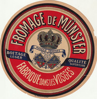 Rare  étiquette 18  Cm Fromage Munster - Cheese