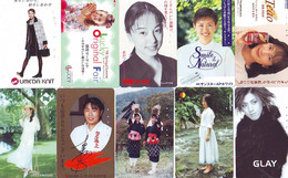 LOT 10 Telecartes Differentes Japon * FEMME Femmes (A-455) SEXY GIRL Girls Phonecards Japan * TELEFONKARTEN FRAUEN FRAU - Moda