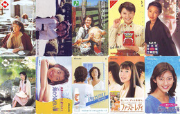 LOT 10 Telecartes Differentes Japon * FEMME Femmes (A-457) SEXY GIRL Girls Phonecards Japan * TELEFONKARTEN FRAUEN FRAU - Moda