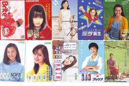LOT 10 Telecartes Differentes Japon * FEMME Femmes (A-458) SEXY GIRL Girls Phonecards Japan * TELEFONKARTEN FRAUEN FRAU - Moda