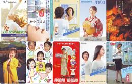 LOT 10 Telecartes Differentes Japon * FEMME Femmes (A-462) SEXY GIRL Girls Phonecards Japan * TELEFONKARTEN FRAUEN FRAU - Moda
