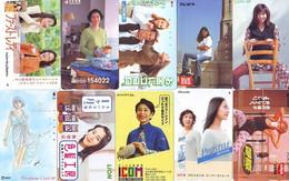 LOT 10 Telecartes Differentes Japon * FEMME Femmes (A-463) SEXY GIRL Girls Phonecards Japan * TELEFONKARTEN FRAUEN FRAU - Moda