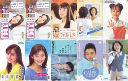 LOT 10 Telecartes Differentes Japon * FEMME Femmes (A-465) SEXY GIRL Girls Phonecards Japan * TELEFONKARTEN FRAUEN FRAU - Moda