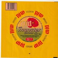 Rare  étiquette 21 X 21  Cm Fromage Petit Munster Géromé AVID - Cheese