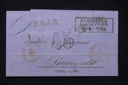 ALLEMAGNE - Cachet De Saarbrück Sur Lettre Pour La France En 185.- L 91024 - [1] Precursores