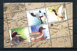 1989 ISRAELE SET MNH ** Foglietto Anatre Ducks - Blocs-feuillets