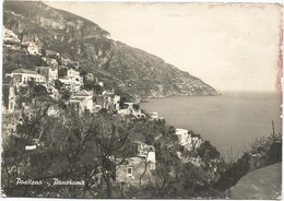 V6047 Positano (Napoli) - Panorama Del Paese / Viaggiata 1955 - Altre Città