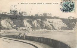 CPA 64 Pyrénées Atlantiques Biarritz Côte Des Basques Et Pêcheurs à La Ligne - Biarritz