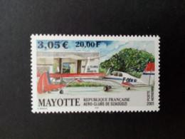MAYOTTE MI-NR. 104 POSTFRISCH(MINT) AERO-CLUBS VON MAYOTTE 2001 FLUGZEUGE - Neufs