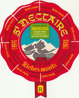 Rare  étiquette 16 Cm Fromage Saint-Nectaire Riches Monts - Cheese