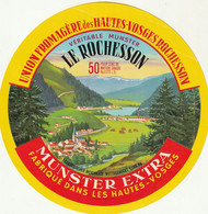 Rare  étiquette 18 Cm Fromage Munster Extra Le Rochesson - Cheese