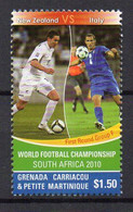 World Football Championship. South Africa 2010. New Zealand Vs. Italy - (Grenada Carriacou 2010) MNH (2W0821) - 2010 – South Africa