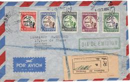 PARAGUAY 1950 COVER FDC REGISTERED VIAGGIATA VERSO GENEVE SUISSE 75TH ANNIVERSARY UNIVERSAL POSTAL UNION U.P.U. - Paraguay