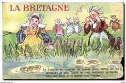 CPA La Bretagne Folklore Costume Femmes - Humour