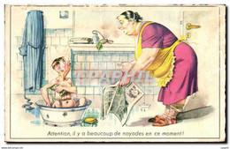 CPA Attention Li Y A Beaucoup De Noyades En Ce Moment Couple Humour - Humor