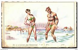 CPA Couple A La Plage - Humor