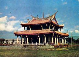 Temple De Confucius à Ilan Formosa TAÏWAN Sur Carte Publicitaire Laboratoires La Biomarine à Dieppe - Formosa