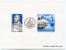 T. A. A. F. EPREUVE DE LUXE DU N°196A ** S.H.O.M. - Imperforates, Proofs & Errors