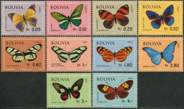 BOLIVIA 1970 Butterflies Butterfly Insects Animals Fauna MNH - Papillons