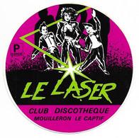 AUTOCOLLANT - STICKER LE LASER - CLUB DISCOTHÈQUE MOUILLERON LE CAPTIF - Stickers