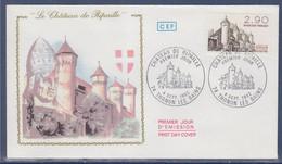 Château De Ripaille Haute Savoie Enveloppe 1er Jour 74 Thonon Les Bains 4.9.82 N° 2232 - 1980-1989