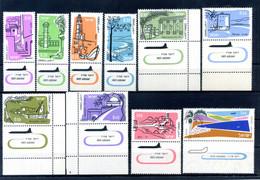 1960-62 ISRAELE SET MNH ** Con Tab Come Scansione POSTA AEREA - Airmail