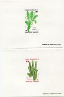 T. A. A. F. EPREUVES DE LUXE DES N°118 / 119 ** FLORE DE L'ANTARCTIQUE ALGUES - Imperforates, Proofs & Errors