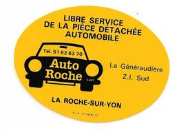 AUTOCOLLANT - STICKER ENTREPRISE AUTO ROCHE - PIÈCE DÉTACHÉE AUTOMOBILE - LA GÉNÉRAUDIÈRE LA ROCHE SUR YON - Stickers