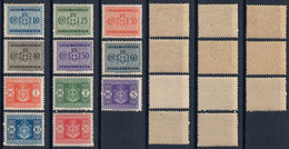 LUOGOTENENZA 1945 - SEGNATASSE 11 VALORI (FILIGRANA RUOTA 1° TIPO) - SASSONE TAX86/96 - NUOVI MNH ** - Strafport