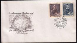 Czechoslovakia Uhersky Brod 1952 / 360th Anniversary Of The Birth Of Jan Amos Komensky, Philosopher, Writer / FDC - FDC